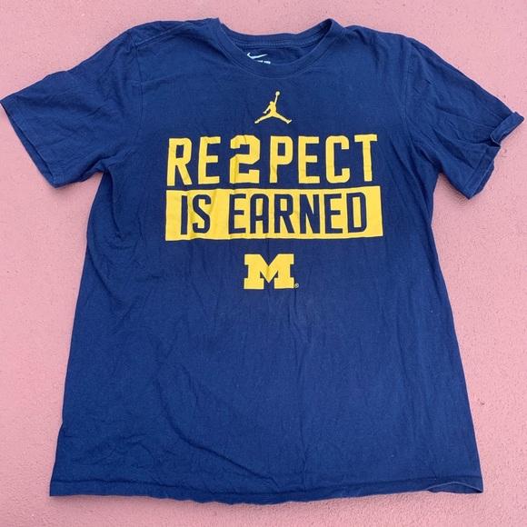 Nike Other - University of Michigan nike shirt maize and blue